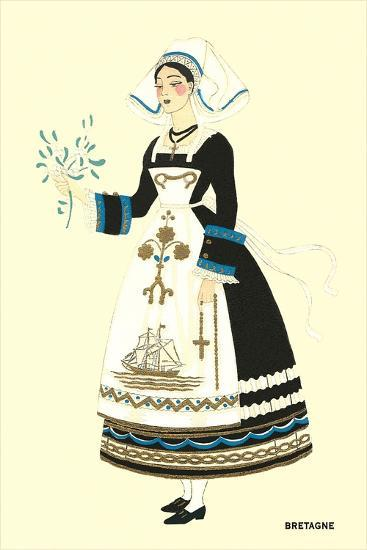 Native Costume of Brittany--Art Print
