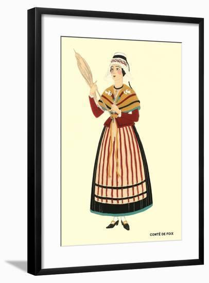 Native Costume of Comte De Foix--Framed Art Print