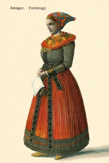 Native Dress, Copenhagen, Denmark--Art Print