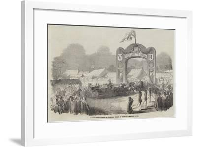 Native Entertainment to European Troops at Bombay--Framed Giclee Print
