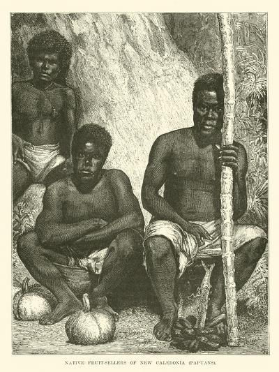 Native Fruit-Sellers of New Caledonia, Papuans--Giclee Print