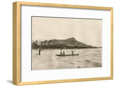 Native Hawaiian Canoe Surfers at Diamond Head, C.1890S