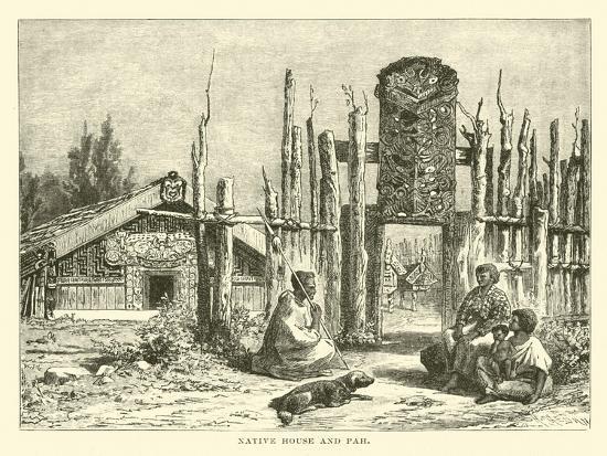 Native House and Pah--Giclee Print