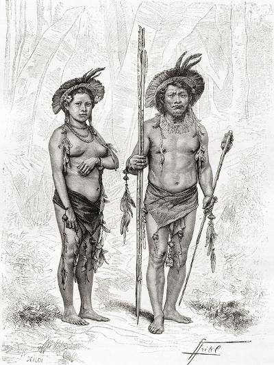 Native Indians from Rio Branco, South America--Giclee Print