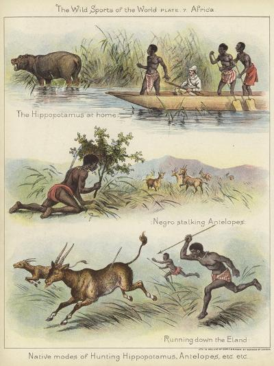 Native Modes of Hunting--Giclee Print
