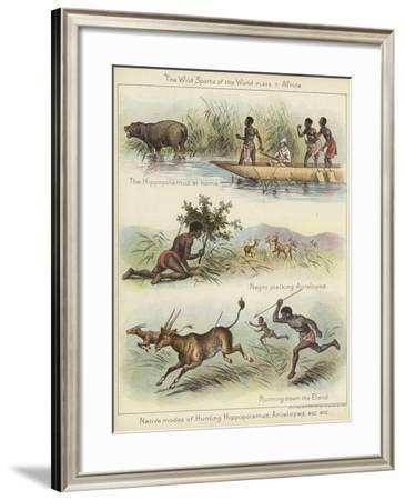 Native Modes of Hunting--Framed Giclee Print