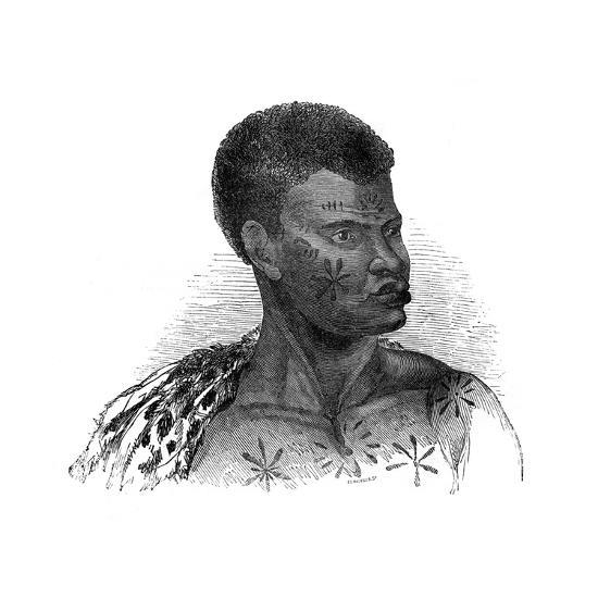 Native of Mozambique, 1848-Ebenezer Landells-Giclee Print