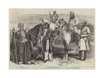 Native Officers and Soldiers in the East India Company's Service-William Carpenter-Giclee Print