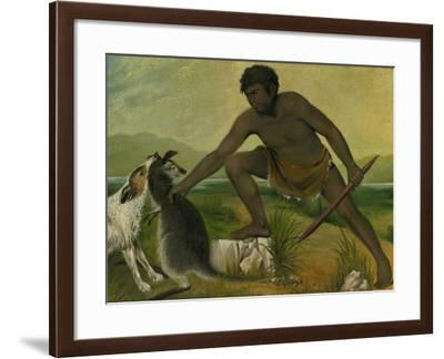 Native Taking a Kangaroo, 1837-Benjamin Duterrau-Framed Giclee Print