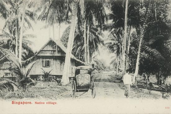 Native Village, Singapore--Photographic Print