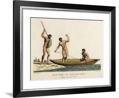 Natives of Botany Bay-Robert Cleveley-Framed Giclee Print