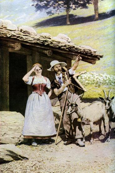 Natives of the Canton of Bern, Switzerland, C1924--Giclee Print