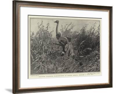 Natives Stalking Hartebeeste in South Africa, Result, a Good Bag-Joseph Nash-Framed Giclee Print