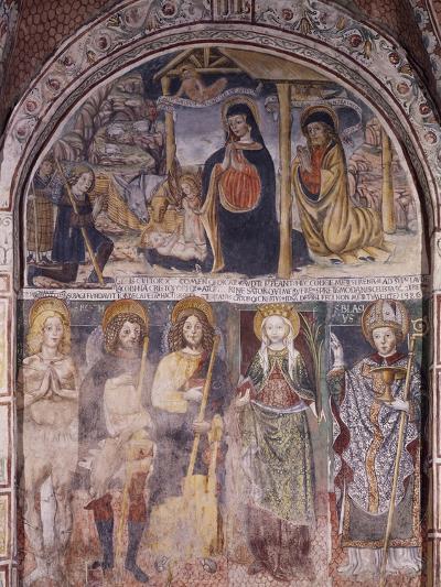 Nativity and Saints, Fresco-Gaudenzio Ferrari-Giclee Print