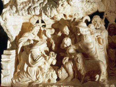 Nativity, Carved Linden Wood Nativity Scene, Czech Republic--Giclee Print