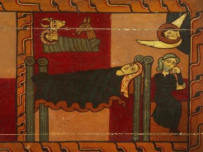 Nativity, Detail from Sagars Altarpiece, 12th Century, Tempera on Panel--Giclee Print