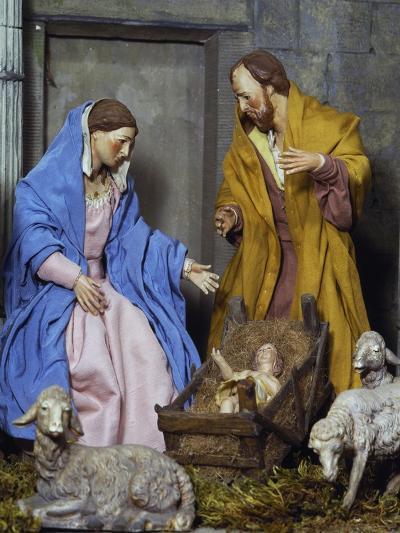 Nativity, Nativity Scene Set at Forum of Nerva or Colonnacce in Rome--Giclee Print