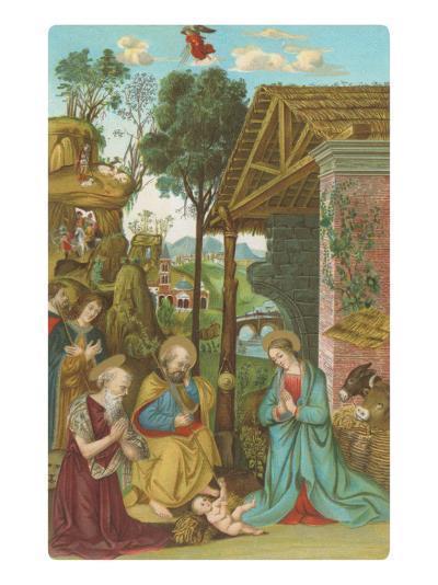 Nativity Scene by Pinturicchio, Rome--Art Print