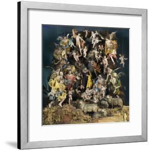 Nativity Scene with Angels in Glory, Neapolitan Nativity Scene, Naples, Italy