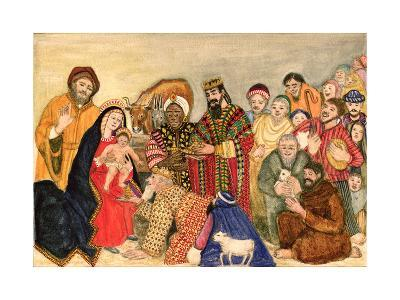 Nativity Scene-Gillian Lawson-Giclee Print