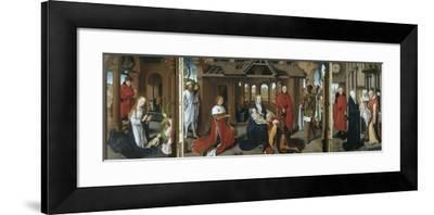 Nativity, the Adoration of the Magi. the Presentation of Jesus at the Temple, 1479-1480-Hans Memling-Framed Giclee Print