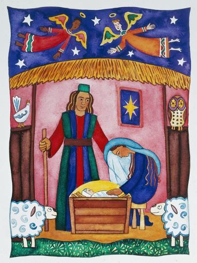 Nativity with Angels-Cathy Baxter-Giclee Print