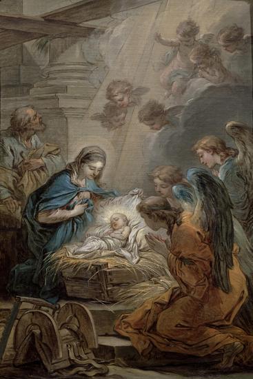 Nativity-Carle van Loo-Giclee Print