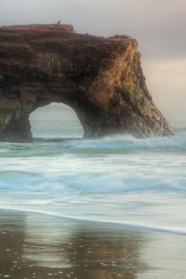 Natural Bridge Portrait, Santa Cruz-Vincent James-Photographic Print
