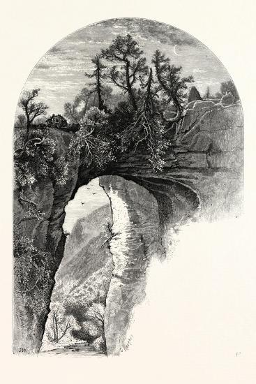 Natural Bridge, Virginia-John Douglas Woodward-Giclee Print
