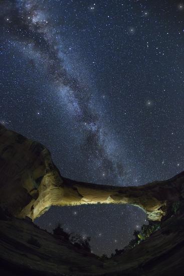 Natural Bridges National Monument at Night-Jon Hicks-Photographic Print