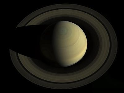 Natural Color Mosaic of Planet Saturn and its Main Rings--Photographic Print