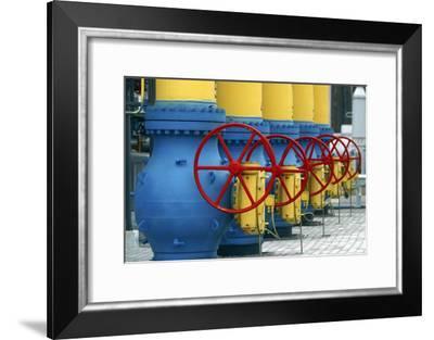 Natural Gas Compressor Station Machinery-Ria Novosti-Framed Photographic Print
