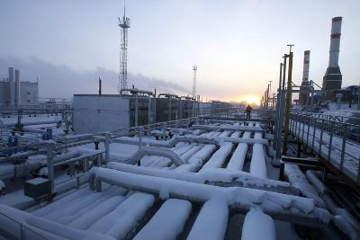 Natural Gas Condensate Production Well-Ria Novosti-Photographic Print