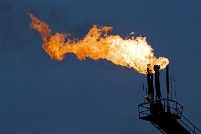 Natural Gas Flare-Paul Souders-Photographic Print