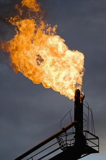 Natural Gas Flare--Photographic Print