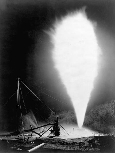 Natural Gas Wells, 1906. Burning Well at Independence, Kansas-H^ W. Talbott and Chas. E. Craven-Photographic Print