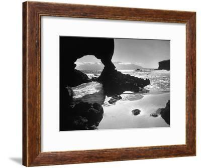 Natural Gateways Formed by the Sea in the Rocks on the Coastline-Eliot Elisofon-Framed Premium Photographic Print