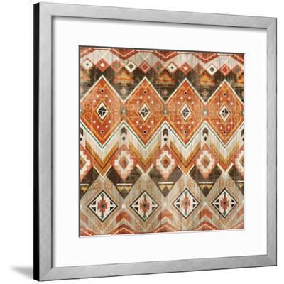 Natural History Lodge Southwest Pattern VIII-Wild Apple Portfolio-Framed Art Print