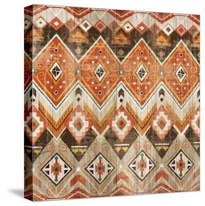 Natural History Lodge Southwest Pattern VIII-Wild Apple Portfolio-Stretched Canvas Print