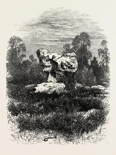 Natural Rock at Franchard, the Forest of Fontainebleau, France, 19th Century--Giclee Print
