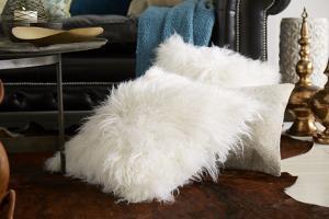 Natural Sheepskin White Pillow Pair *