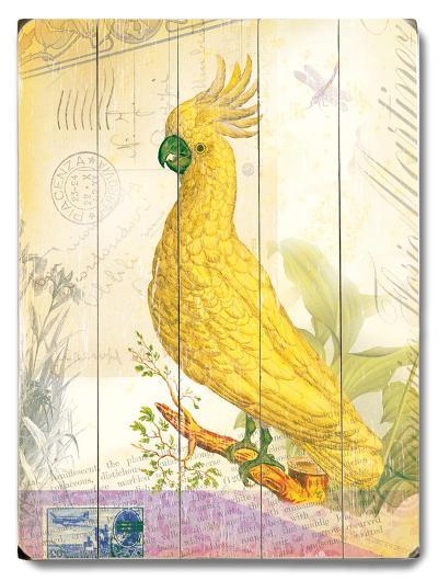 Natural Wonders-Yellow Bird--Wood Sign