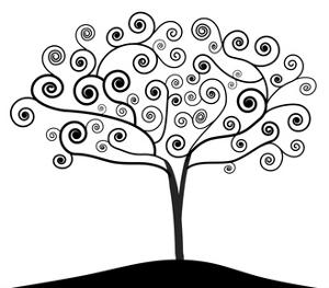 Art Nouveau Tree by NaturalVisions