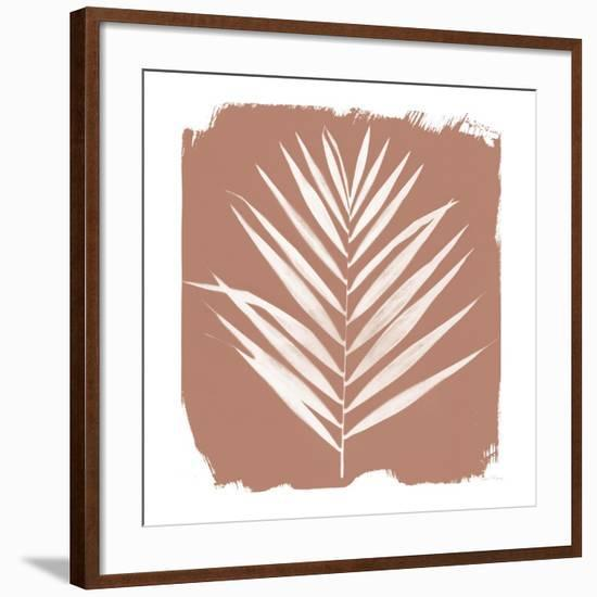 Nature by the Lake - Frond III Warm Sq-Piper Rhue-Framed Art Print