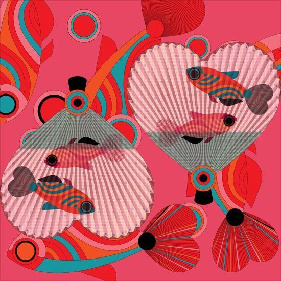 Nature Fan, Fish Color-Belen Mena-Giclee Print