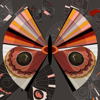 Nature Fan, Moth Color-Bel?n Mena-Giclee Print