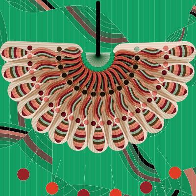 Nature Fan, Red And Green Color-Bel?n Mena-Giclee Print