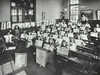 Nature Lesson, Albion Street Girls School, Rotherhithe, London, 1908--Photographic Print