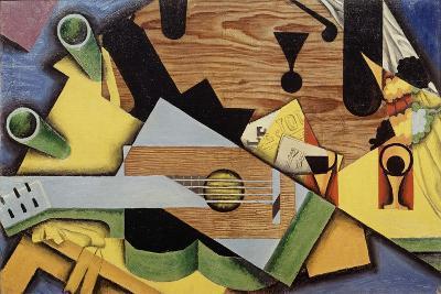 "Nature Morte à la Guitare"" (Still Life with Guitar), 1913-Juan Gris-Giclee Print"