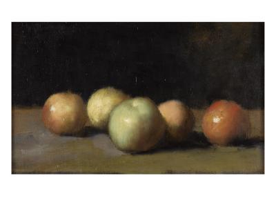 Nature morte à la pomme, la poire et aux pêches-Jean Jacques Henner-Giclee Print